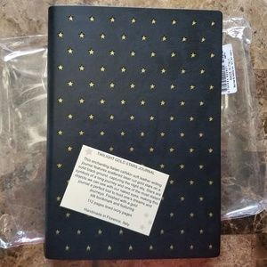 Other - Twilight Gold Stars Journal Calfskin Leather Italy
